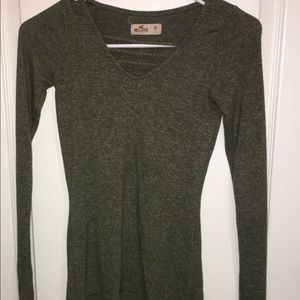 hollister small knit  gray used shirt long sleeve